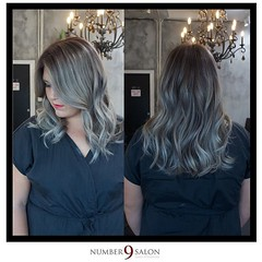 """Here's another final look from our Fall Trend Forecast, created by Amanda G. w/makeup by Eric: the hair is a smokey grey color melt, while the makeup features romantic, fall hues 😍 #falltrends #fallhair #fallstyle • <a style=""""font-size:0.8em;"""" href=""""http://www.flickr.com/photos/41394475@N04/30194639342/"""" target=""""_blank"""">View on Flickr</a>"""