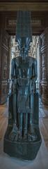 The God Amun Protecting Tutankhamun (NJHaupt) Tags: granite egypt egyptian museum louvre paris france god amun tutankhamun king kingtut tut ancient artifact history nikon d5300 art sculpture carving relief