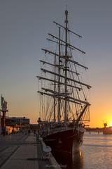 Tenatious Sunset Port Adelaide (johnwilliamson4) Tags: adelaide mclarenwharf portadeleide portriver southauatralia sunset tallship tenatious southaustralia australia coth alittlebeauty coth5