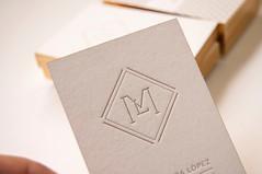 Marta Lomba (El Calotipo) Tags: businesscards tarjetas letterpress serigrafa silkscreen stamping gold design diseo printing