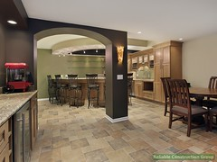 Lower level basement with bar (adambebenek) Tags: architecture basement chair decor decorate design dwelling elegant estate family floor furnishings furniture hardwood home house interior lighting living luxury modern real relax residence residential room suburban suburbs table upscale warm wood