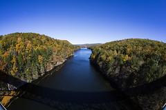 French King Br_20161023_009 (falconn67) Tags: frenchkingbridge connecticutriver newengland massachusetts erving autumn fall trees river nature sky canon 5dmarkiii sigma fisheye 15mm