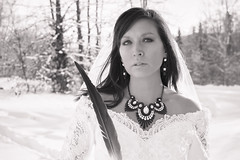 Wet'suwet'en Beauty (Spruceroots) Tags: winter wedding snow beautiful bride eagle feather nativeamerican stunning northern wetsuweten