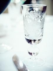 restaurant L'Europe (miemo) Tags: travel winter glass closeup emblem stpetersburg restaurant europe crystal russia bokeh interior olympus vodka shotglass omd em5 leurope panasonic1235mmf28