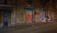 Torino, nei pressi di Porta Palazzo (Anteriorechiuso Santi Diego) Tags: street night torino graffiti turin