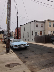 Pigtown II (amy hit the atmosphere) Tags: urban ford car vintage md alley antique maryland baltimore retro urbanism rowhouses bmore rowhomes baltimorecity washingtonvillage pigtown bmorecity