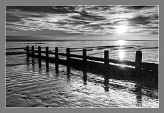 East Preston Beach November 2014 (Ben Daniels) Tags: bw beach eastpreston