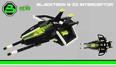Neo-Blacktron B-22 interceptor (Rancorbait) Tags: lego space interceptor moc blacktron