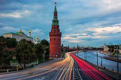 Kremlin Traffic (Nomadic Vision Photography) Tags: castle twilight russia moscow landmark bluehour fortress iconic moskvariver capitalcity jonreid moscowkremlin tinareid nomadicvisioncom officeofthegovernment