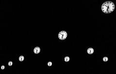 Time flies when you're having fun (Flo.from.Suburbia) Tags: life street city bw white black clock modern germany deutschland living blackwhite noiretblanc streetphotography samsung style german stadt nrw dsseldorf duesseldorf nordrheinwestfalen clocks leben deutsch uhr volksgarten uhren schwarzweis strase bigcitylife mirrorless systemcamera systemkamera grosstadt strasenfotografie samsungnx spiegellos nx300m flofromsuburbia