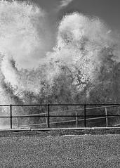 Curly Wave (JodBart) Tags: sea water waves promenade railings hightide crosbybeach