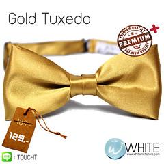 Gold Tuxedo - หูกระต่าย สีเหลืองทอง เนื้อผ้าผิวมัน เรียบ เกรต A