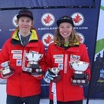 Max Peiffer (BCST/WMSC) and Antonia Wearmouth (BCST/Grouse Tyee) Overall U18 National Champs 2015