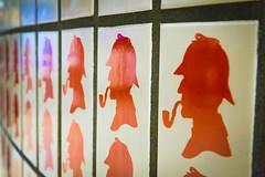 Mr. Holmes (Chelsea DeBonis) Tags: uk england color colour london hat underground tile pattern unitedkingdom smoke tube pipe smoking transportation sherlockholmes holmes sherlock deerstalker