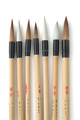 Seven Oriental Brushes (leconciergelocal) Tags: china art writing painting asian japanese artistic object crafts traditional unitedstatesofamerica chinese decoration culture craft korea brush tools bamboo equipment korean brushes classical copyspace calligraphy tradition oriental supplies orient sumi onwhite decorate paintbrush tool cultural decorated sumie eastasian inkpainting chinesecalligraphybrushes sumiejapanesepainting