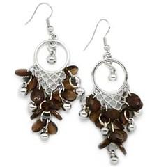 5th Avenue Brown Earrings P5312-1