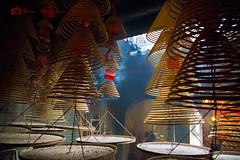 Prayer incense 1 (Paul Hogwood Photography) Tags: china spiral temple hongkong rising heaven buddha buddhist smoke prayer pray praying chinese happiness newyear health cny ash swirl incense prosperity swirling