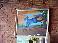 The Blue Fox (knightbefore_99) Tags: city food brick art wall breakfast painting island restaurant bc fort victoria fox eggs bluefox