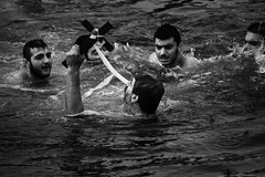 2014 (Antonis Kourkoumelakis) Tags: sea man monochrome mono blackwhite nikon religion christian greece human crete chania 2014 55200mm d3100