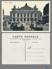 PARIS - L'Opera (bDom) Tags: paris 1900 oldpostcard cartepostale bdom