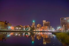providence Rhode Island from the far side of the waterfront (AgFineArtPhotography.com) Tags: new city ri travel blue sunset england sky urban copyright usa white building tower water skyline architecture modern clouds america skyscraper river island bay town canal office high downtown cityscape waterfront dynamic state dusk capital scenic dramatic providence rhodeisland capitol riverfront rhode range renaissance hdr renewal waterway narragansett copyrighted narragansettbay providenceriver