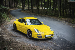 Porsche 911 GTS 997 (filipfabianphotography) Tags: yellow forest 911 porsche limited gts 997