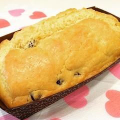 レーズンパウンドケーキ ・ バスケのママ茶会へ差し入れ〜 1号。 ・ #バレンタインデー#ハッピーバレンタイン#バレンタイン #国生さゆり#ミニバス#バスケット#お食事処しほ #いい天気 #2月14日#レーズンパウンドケーキ#パウンドケーキ#お菓子作り#cake