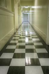 Hallway (Vintage Country Memories) Tags: hallway checkeredfloor