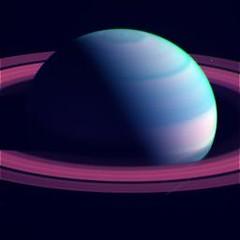"""Muted"" Saturn (sjrankin) Tags: clouds edited nasa bands rings colorized saturn rgb cassini mt2bl1cb2 7february2015"