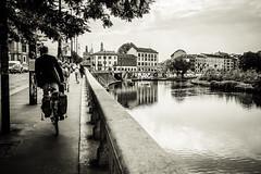 Darsena (-dow-) Tags: reflections fuji cyclist milano bikes rider riflessi navigli biciclette darsena ciclisti xe1 xf1855mm