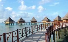 water villa Hotel KIAORA Tahiti Rangiroa (sapphire_rouge) Tags: france resort lagoon tahiti atoll rangiroa polynesia snorkeling タヒチ franchpolynesia 環礁 ランギロア ポリネシア atool polynésiefrançaise フレンチポリネシア island kiaora