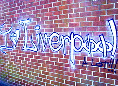 I Heart Liverpool (Tony Worrall Foto) Tags: county uk red england streetart art wall liverpool graffiti words stream tour open place northwest bricks country north visit location vandal area northern update slogan mersey attraction merseyside souse welovethenorth 2015tonyworrall