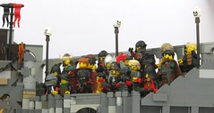 The Fighting Pit Stands (W. Navarre) Tags: grey fight lego pillars gladiator minifigure