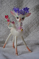 Happy birthday ! (Madcat ) Tags: make up coral cat bjd mad dollzone