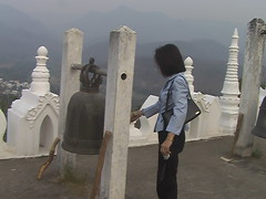 Ringing Bell at Wat Phra That Doi Kong Mu