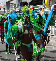 Woman Dancer Blue and Green Mash 2015 Georgetown GUyana