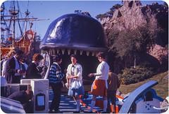 Storybook Land,  Disneyland - Kodachrome Slide - 1963 (leftofnever) Tags: vacation holiday color colour tourism 35mm kodak disneyland archive places tourist disney scan 35mmfilm 1960s foundphoto 1963 35mmslide transparancy viewfromthisside kodaachrome believeinfilm