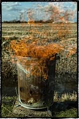 4-365 Man Stuff (Tom Lloyd ABIPP, ARPS) Tags: distortion garden fire flames burn heat rubbish incinerator pyrolyse