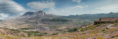 Mount St. Helens National Volcanic Monument (Mill Bridge Photography) Tags: panorama nature landscape volcano pano observatory wildflowers mountsthelens