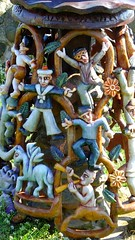 coastal totem pole 06 (byronv2) Tags: eastneukoffife lowerlargo fife coast coastal rnbforth rnbfirthofforth firthofforth forth riverforth river sea northsea colour colourful carving carved totempole nautical maritime sculpture woodensculpture woodencarving scotland