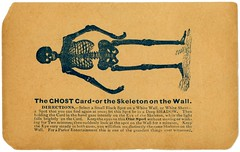 The Ghost Card, or the Skeleton on the Wall (Alan Mays) Tags: ephemera noveltycards ghostcards cards paper printed ghostcard ghosts skeletononthewall skeletons walls opticalillusions afterimages images spots illusions instructions novelties parlorentertainments parlors entertainments illustrations flirtations flirtationcards black white antique old vintage typefaces type typography fonts