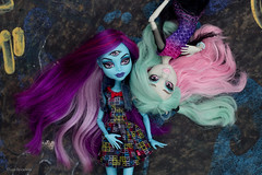 friends (olgabrezhneva) Tags: girls portrait people white girl monster illustration toy toys three outfit high doll dolls witch background cam gothic cartoon indoor hobby wig monsters eyed create custom girlz mattel ghoul rochelle dollz toyz highs colletion reroot goyle  dollcollection  a 3eyed wigged  mattels createamonster monsterhigh monsterhighdolls dollpicture threeeyedghoul  3eyedghoul rochellegoyle   dolsoutfit
