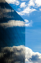 Transparent Building? (stephenbryan825) Tags: reflection glass architecture clouds contrast liverpool buildings graphic details abstracts minimalist selects mannisland
