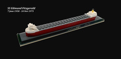 SS Edmund Fitzgerald (timhenderson73) Tags: lego custom moc ss edmund fitzgerald shipwreck freighter disaster