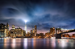 New York  City lights (beatricepreve) Tags: life road street new york city morning bridge windows light sunset sky urban usa eye tower tourism birds skyline architecture brooklyn night america sunrise buildings high downtown cityscape exterior power looking view traffic state manhattan district taxi large scene aerial structure roofs helicopter empire tall avenue built offices crowded drone trafix traficjame