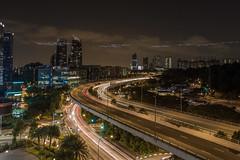 HarbourFront, Singapore (Parrizio) Tags: city urban night lights singapore cityscape darkness rooftops exploring urbanexploration harbourfront lighttrails sentosa exploration