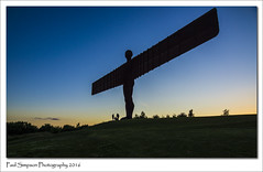 Angel of the North (Paul Simpson Photography) Tags: sunset england statue angel wings bluesky icon gateshead northeast iconic angelofthenorth anthonygormley photosof imageof photoof anthonygormly imagesof sonya77 paulsimpsonphotography july2016
