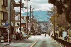Way to Go (*kayin) Tags: travel japan jp street camera winter tree car road ps olympus m43 sky mountain tele pole light day cloud tail lines condo apartment traffic stroll walk businessdrive 2016 em5ii em10ii beer eatery restaurant bicycle cycle cyclist mb benz mercedes daihatsu bus transportation garbage school girl man haineken osaka kansei cuisine park red info temple gold pine