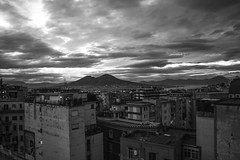 Good morning (BLUPhoto') Tags: city light bw italy white black love sunrise canon lens eos blackwhite nice exposure strada italia alba blu sigma napoli manual length bianco nero luce lucio sud focal 60d