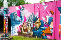 Monkey Business (Dutch_Chewbacca) Tags: graffiti berenkuil eindhoven rockcity art 040 noordbrabant netherlands dutch holland spray can colors canon dlsr sigma 23 july 2016 summer saturday weekend pretty street legal monkey business